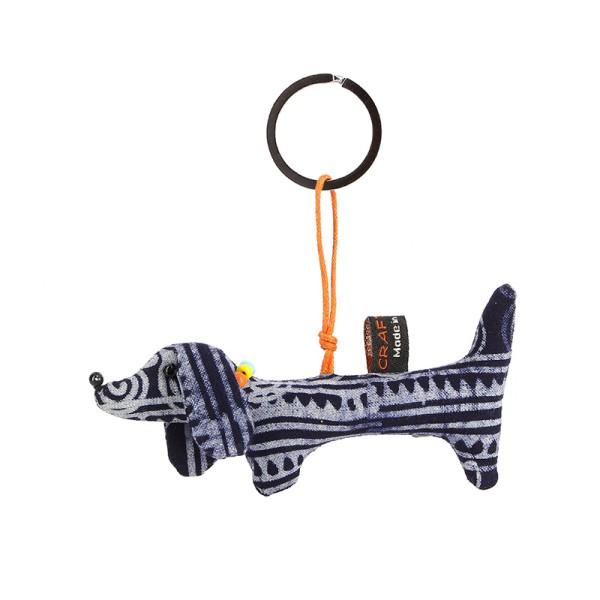 Schlüsselanhänger DACKEL, Baumwolle