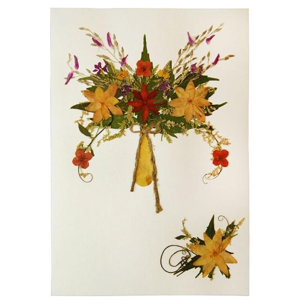 Grußkarte DAHLIA GELB, Wildblumen
