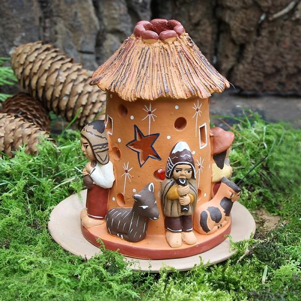 Windlicht HÜTTE, Keramik