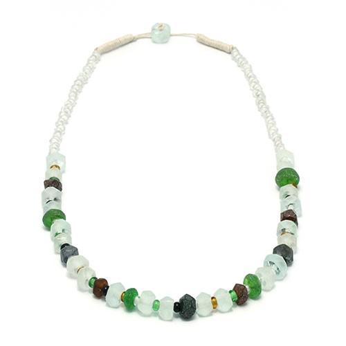 Halskette KRISTALL, Recycling-Glas