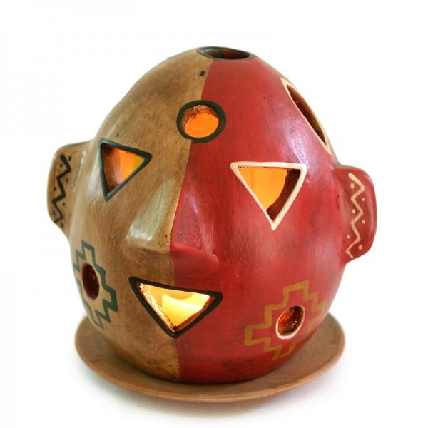 Windlicht MASKE, Keramik