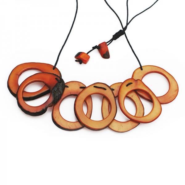Halskette HUL, Tagua-Nuss