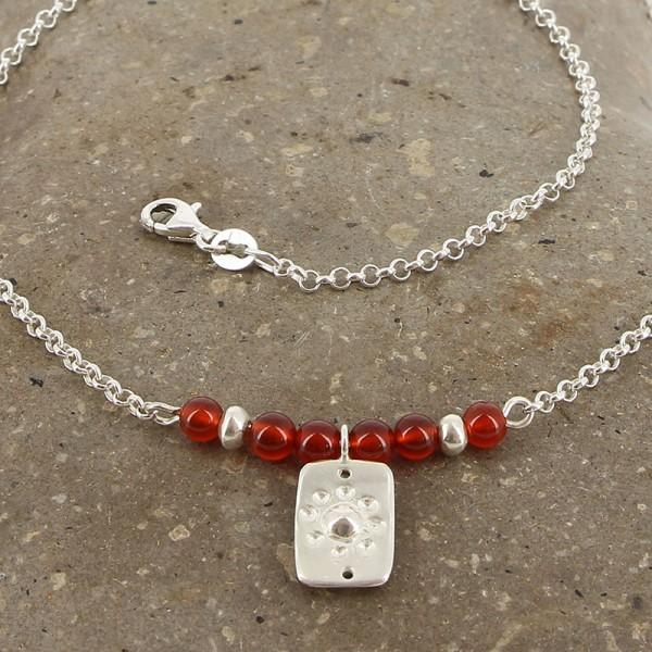 Halskette FLOR, 950er Silber