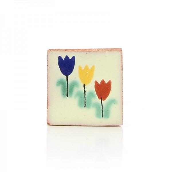 Mini-Fliese TULIPANES, Keramik