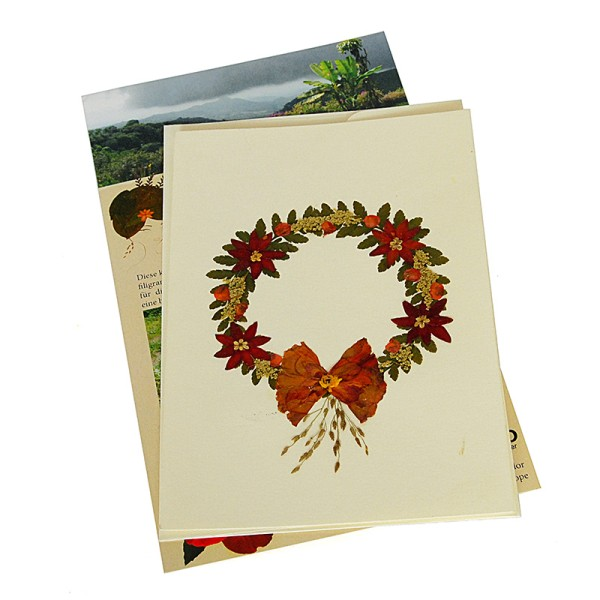 Grusskarte KRANZ, Wildblumen
