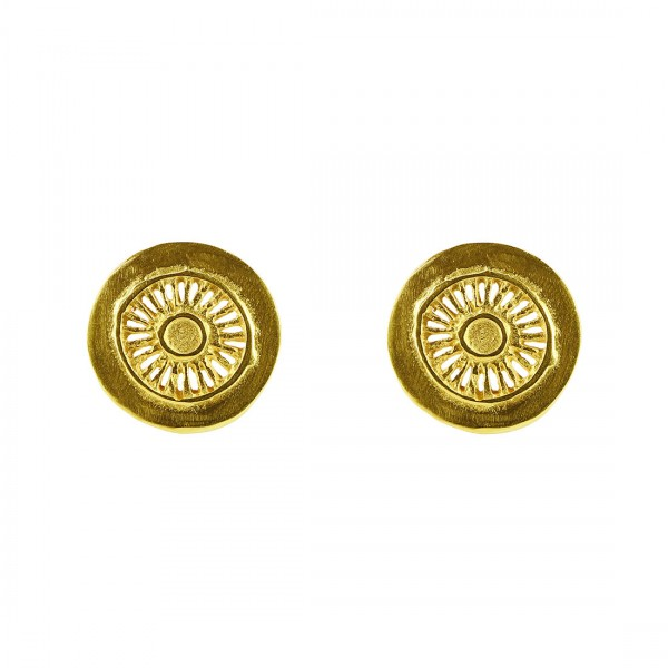Ohrstecker SITARA, 925er Silber, vergoldet