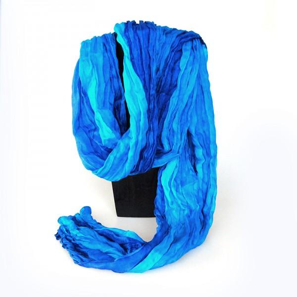 Seidenschal, blau