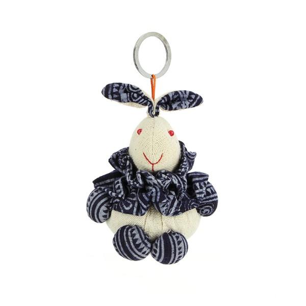 Schlüsselanhänger HASE, Baumwolle