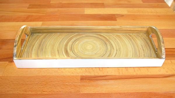 Tablett WEISS, Bambus