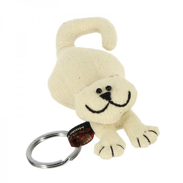 Schlüsselanhänger KATZE, Baumwolle