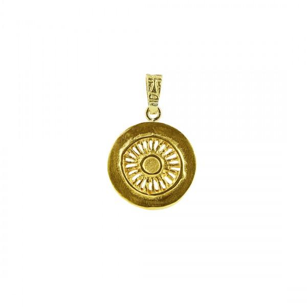 Anhänger SITARA, 925er Silber, vergoldet