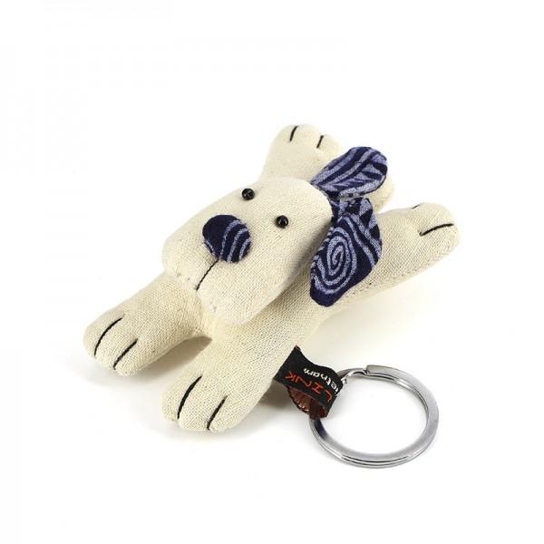 Schlüsselanhänger HUND, Baumwolle
