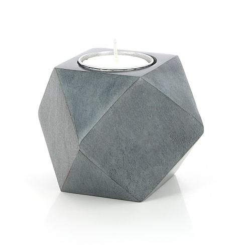 Teelichthalter GEOMETRY, Palewa-Stein