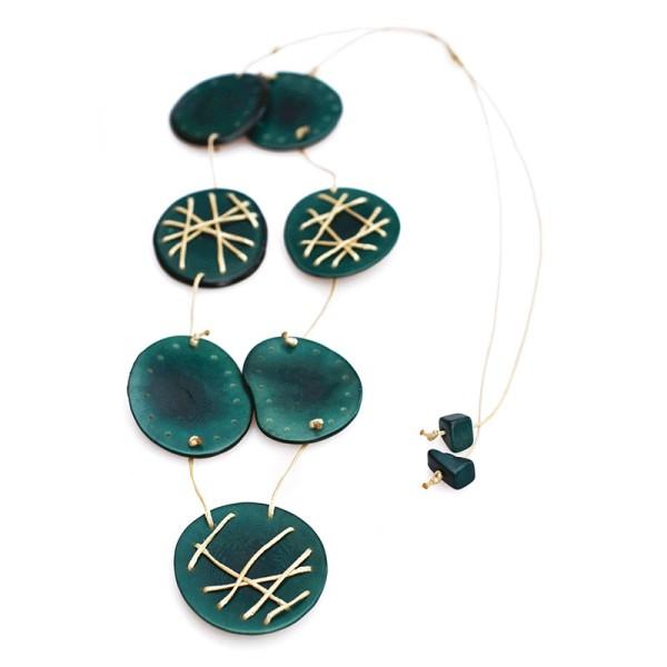 Halskette FADEN-DEKO, Tagua-Nuss