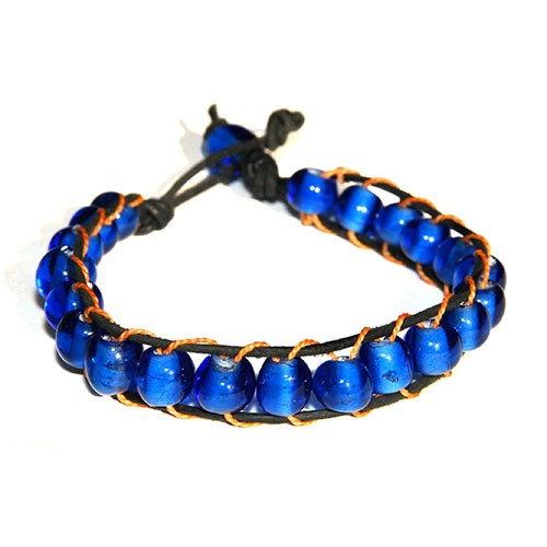 Armband ROYALBLAU, Recycling-Glas