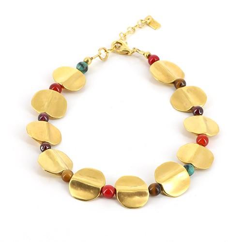 Armband MACAWI, 925er Silber, vergoldet