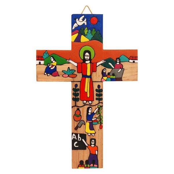 Kreuz SEGNENDER CHRIST, Holz