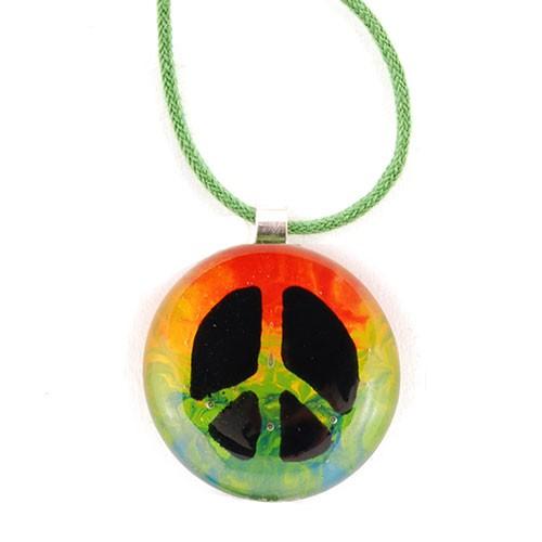 Halskette PEACE, Glas