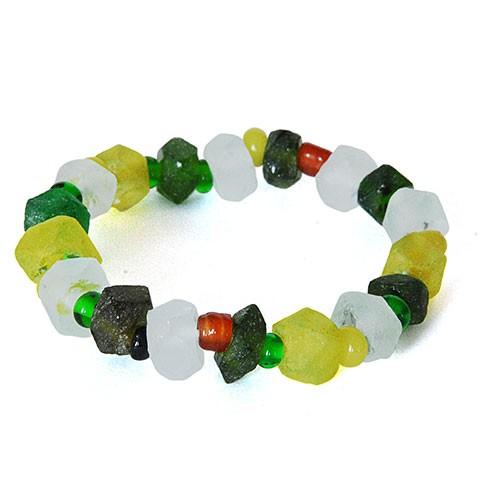 Armband FRÜHLINGSWIESE, Recycling-Glas
