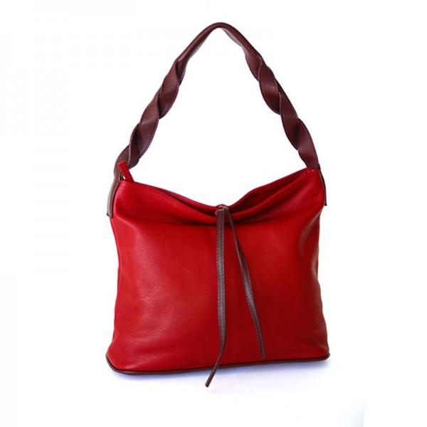 City-Bag LAETICIA ROSSA, Nappaleder