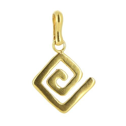 Anhänger ETENIA, 925er Silber, vergoldet
