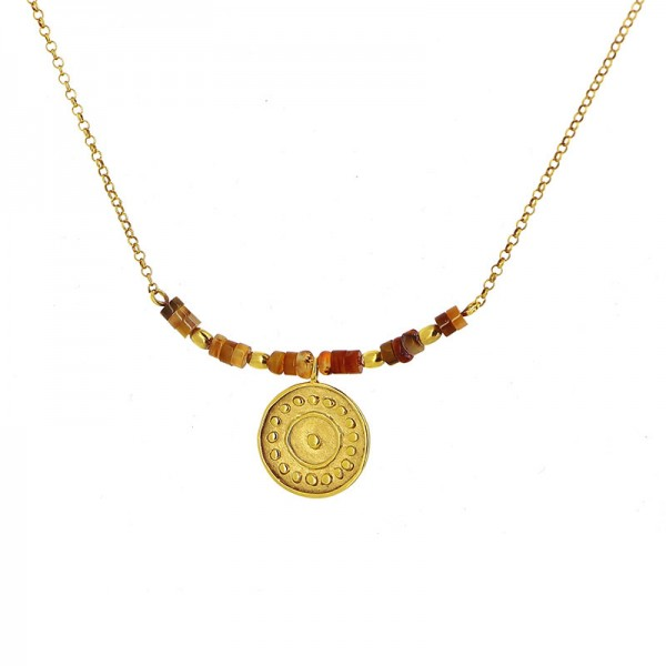 Collier TENYA, 950er Silber, vergoldet