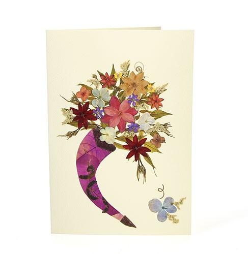Grußkarte FÜLLHORN, Wildblumen