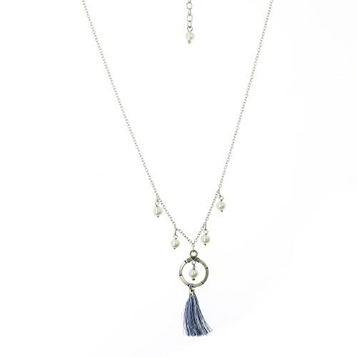 Halskette DREAM, Messing/Polyester