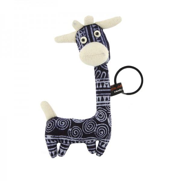 Schlüsselanhänger GIRAFFE, Baumwolle