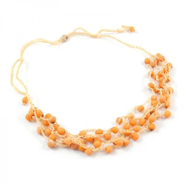 Halskette APRIKOSE, Chirilla-Samen