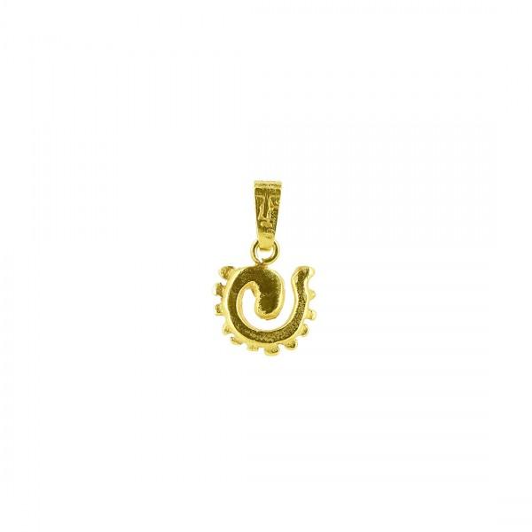 Anhänger MUNA, 925er Silber, vergoldet