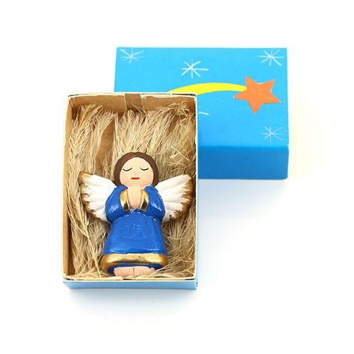 Engel in Streichholzschachtel STERNSCHNUPPE