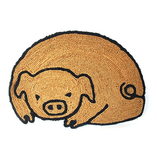 Fußmatte GLÜCKSSCHWEIN, Kokosfaser