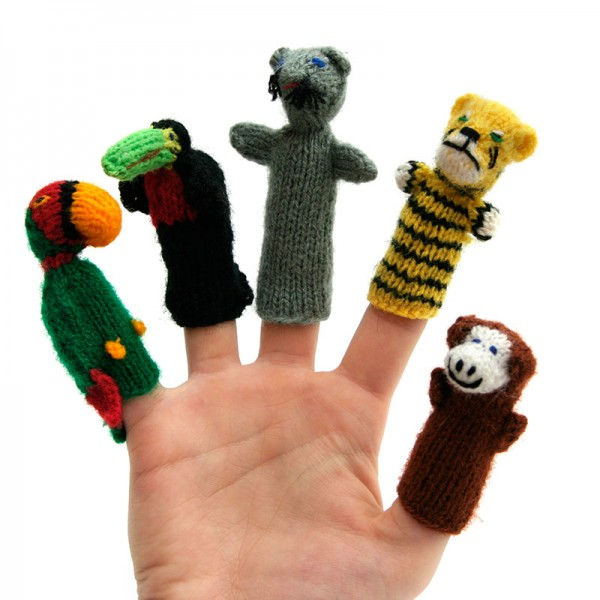 Fingerpuppe Gestrickt Fur S Kind Freizeit Globo Fair Trade