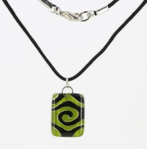 Halskette FOREST, Glas