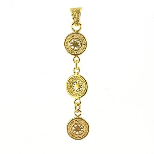 Anhänger ORENDA, 925er Silber, vergoldet