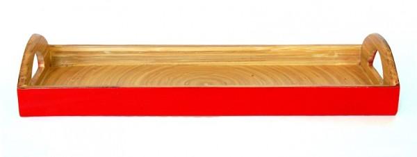 Tablett ROT, Bambus