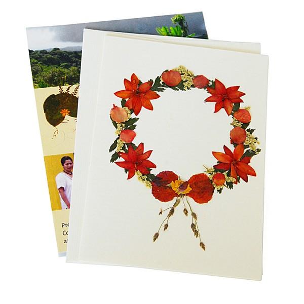 Mini-Grusskarte KRANZ, Wildblumen