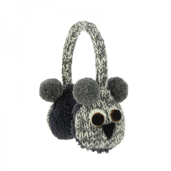 Ohrenwärmer KOALA, Wolle / Plüsch