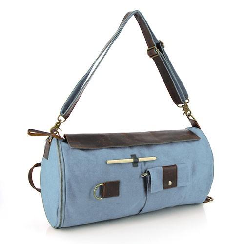 Duffle Bag MORGAN, Canvas/Ökoleder