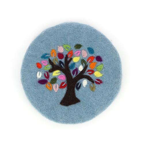 Topfuntersetzer TREE OF LIFE, Filz