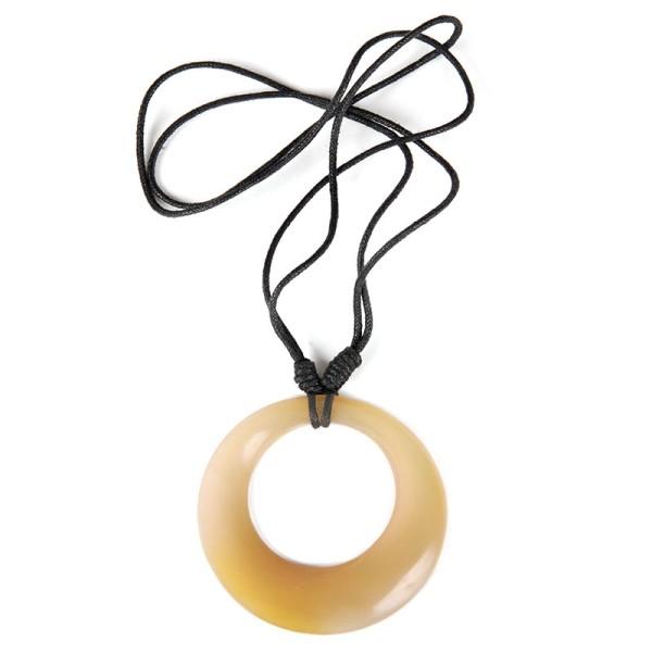 Halskette RING NATURAL, Horn