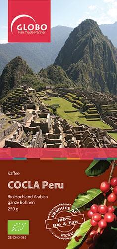 Bio-Kaffee COCLA PERU, ganze Bohne