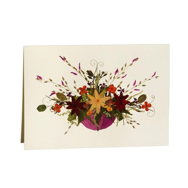 Grußkarte FRÜHLINGS ERWACHEN, Wildblumen