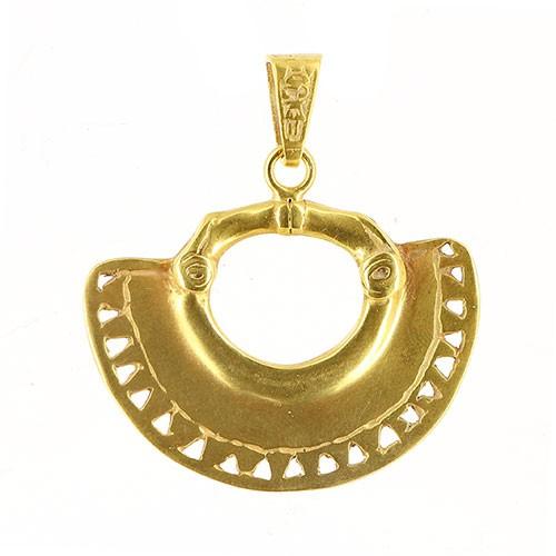 Anhänger LOMASI, 925er Silber, vergoldet