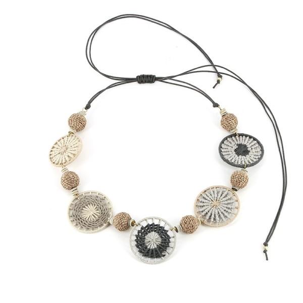Halskette DREAM, Messing/Baumwolle