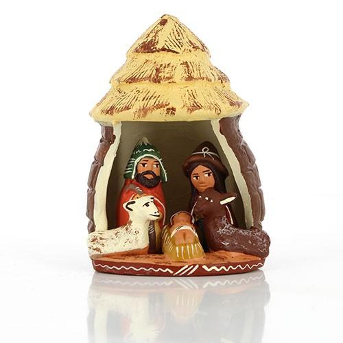 Krippe LEHMHÜTTE, Keramik