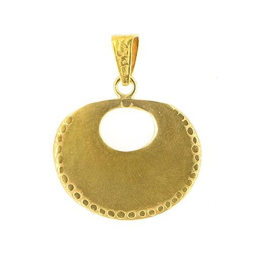 Anhänger PUMAYA, 925er Silber, vergoldet