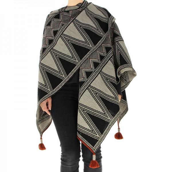 Damen Wendecape TACNA, Alpakawolle