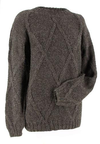 Unisexpullover KARO, Alpaka-Wolle